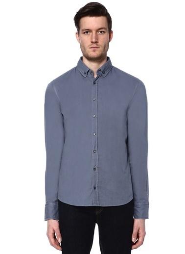 Boss Uzun Kollu Gömlek Mavi